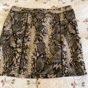 Snake skin pattern skirt - size 12